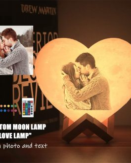 Knostic Moon lamp with Photo 3D Personalized Photo Lamp
